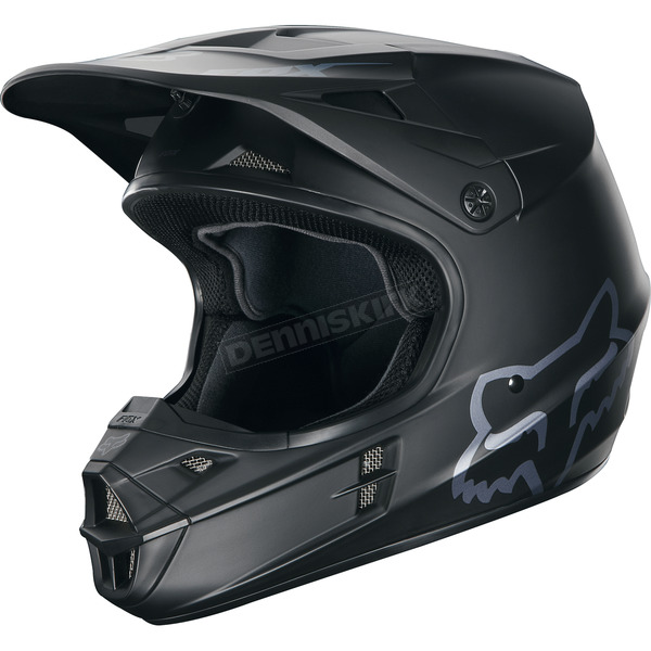 Fox Youth Matte Black V1 Helmet - 16455-255-L