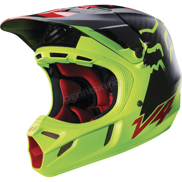 Fox Yellow Libra V4 Helmet - 15177-005-2X