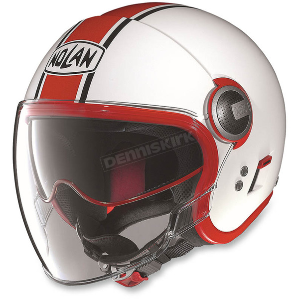 Nolan White/Red N21 Visor Duetto Helmet - N215272850086