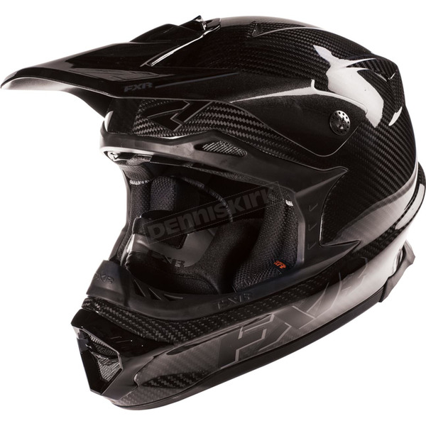 FXR Racing Black/Charcoal Blade Carbon Helmet - 15417.20019