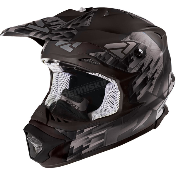FXR Racing Matte Black/Charcoal Blade Clutch Helmet - 16417.20119