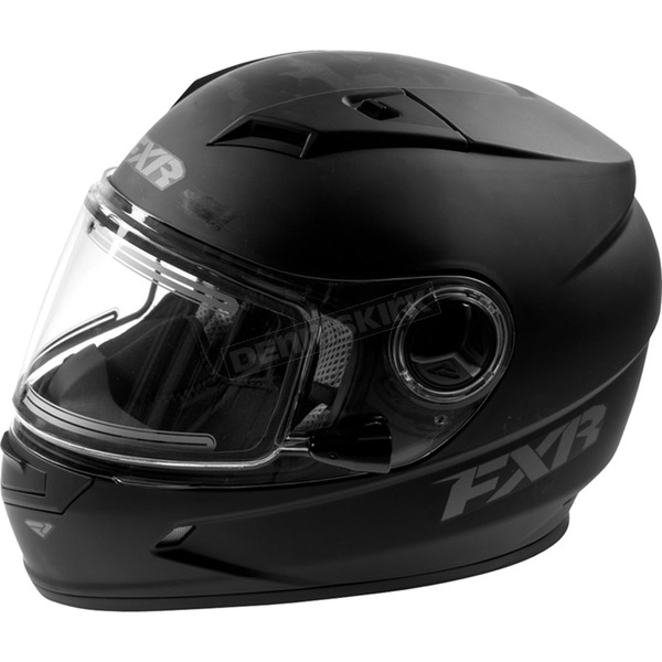 FXR Racing Youth Matte Black Nitro Helmet with Electric Shield - 16416.10013