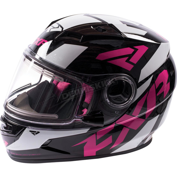 FXR Racing Youth Black/Fuchsia Nitro Helmet - 16414.90010