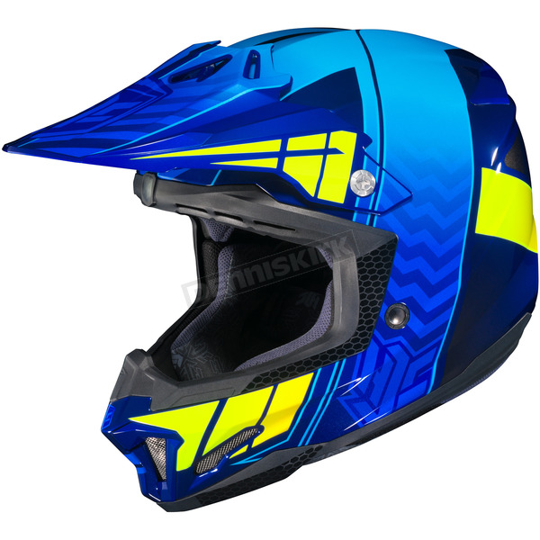 HJC Blue/Hi-Viz Yellow CL-X7 Cross-Up MC-2F Helmet - 57-1439