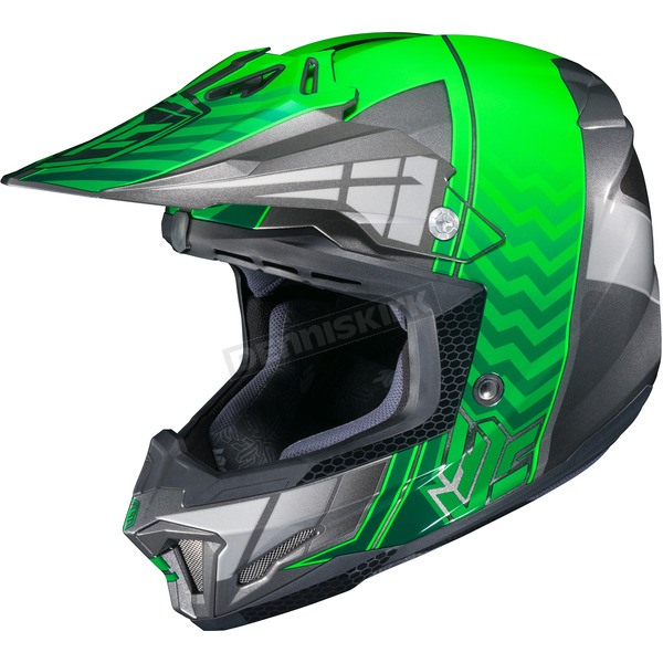 HJC Green/Gray/Silver CL-X7 Cross-Up MC-4 Helmet - 748-941