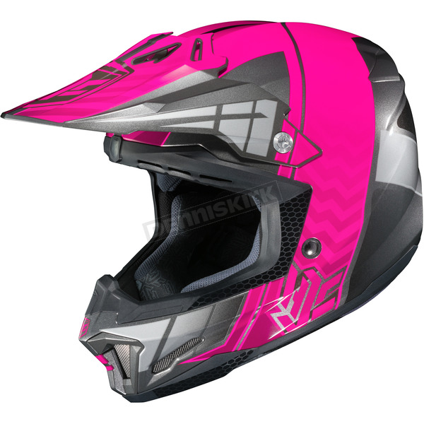 HJC Neon Pink/Gray/Silver CL-X7 MC-8 Cross-Up Helmet - 57-1488