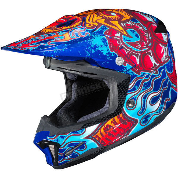 HJC Red/Blue/Yellow CL-X7 Zilla MC-2 Helmet - 57-1522