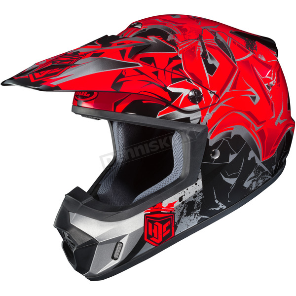 HJC Red/Black/Gray CS-MX 2 Graffed MC-1 Helmet - 322-916