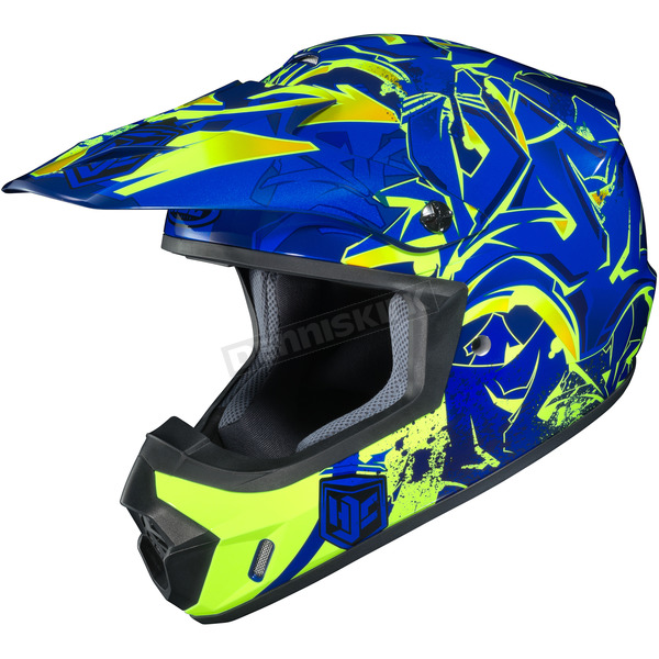 HJC Blue/Neon Green CS-MX 2 Graffed MC-2H Helmet - 55-5629T