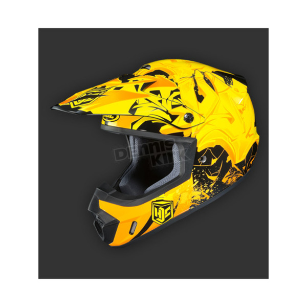 HJC Yellow/Black CS-MX 2 Graffed MC-3H Helmet - 55-5634