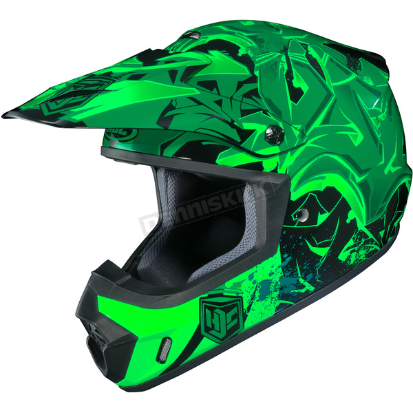 HJC Green/Black CS-MX 2 Graffed MC-4 Helmet - 322-947