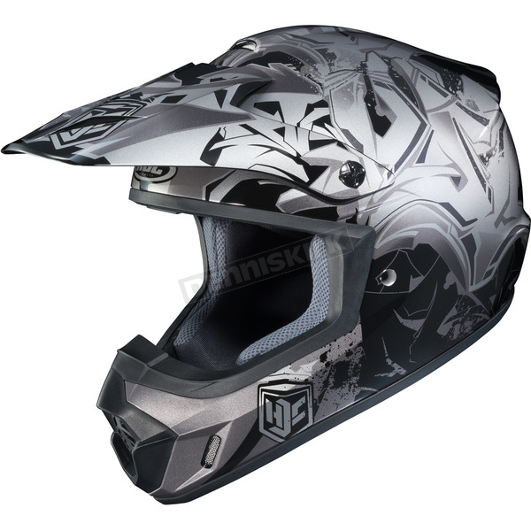 HJC Black/Gray/Silver CS-MX 2 Graffed MC-5 Helmet - 55-5658