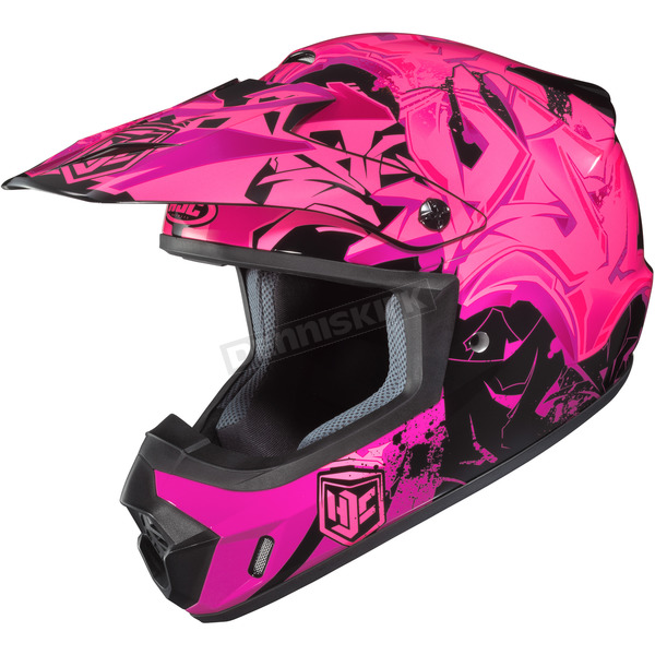 HJC Pink/Black CS-MX 2 Graffed MC-8 Helmet - 55-5681
