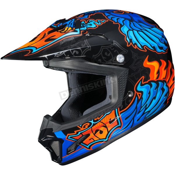 HJC Youth  Blue/Black/Orange CL-XY 2 Eye Fly MC-2 Helmet - 57-5026