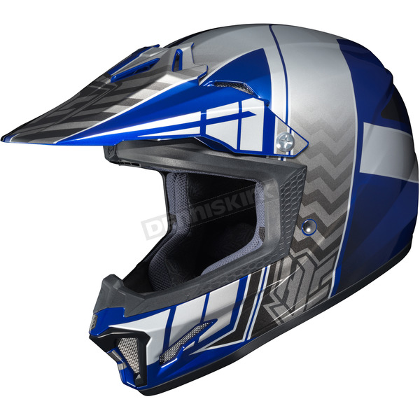 HJC Youth Blue/Gray/Silver CL-XY 2 Cross-Up MC-2 Helmet - 286-923