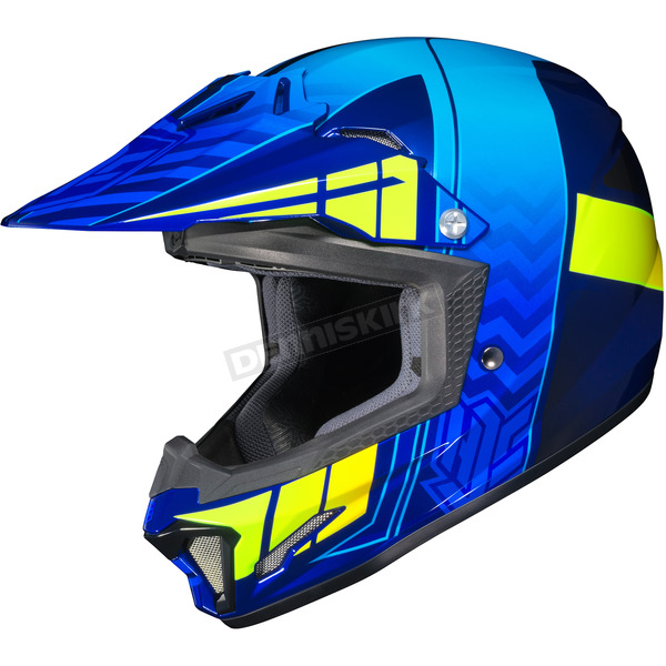 HJC Youth Blue/Neon Green CL-XY 2 Cross-Up MC-2H Helmet - 286-722