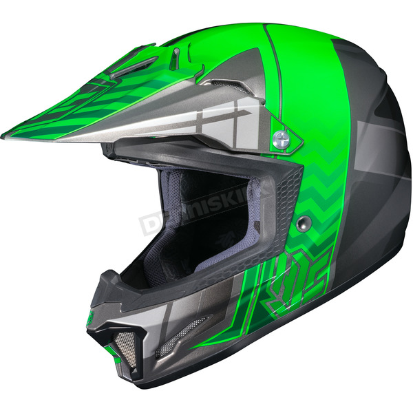HJC Youth Green/Gray/Silver CL-XY 2 Cross-Up MC-4 Helmet - 286-944