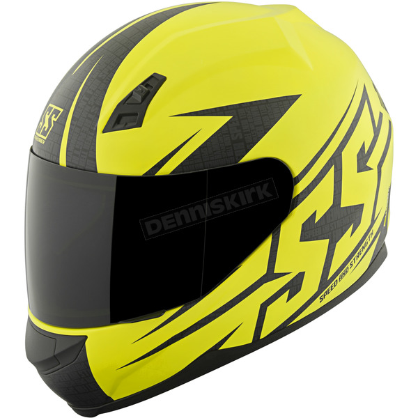 Speed and Strength Matte Hi Vis Hammer Down SS700 Helmet - 87-1415