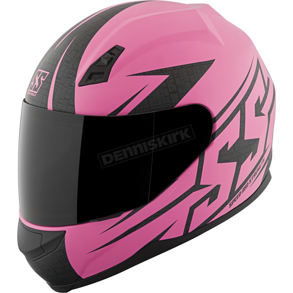 Speed and Strength Matte Pink Hammer Down SS700 Helmet - 87-1422