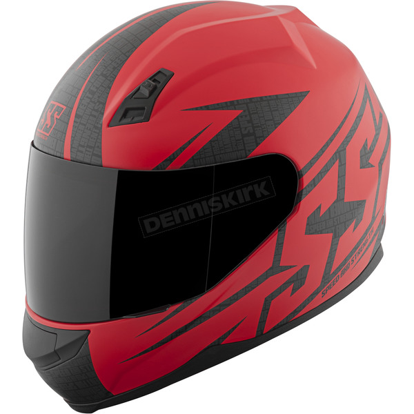 Speed and Strength Matte Red Hammer Down SS700 Helmet - 87-1430