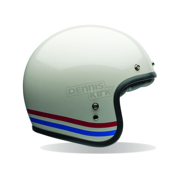 Bell Helmets Pearl White With Stripes Custom 500 Helmet - 7070150