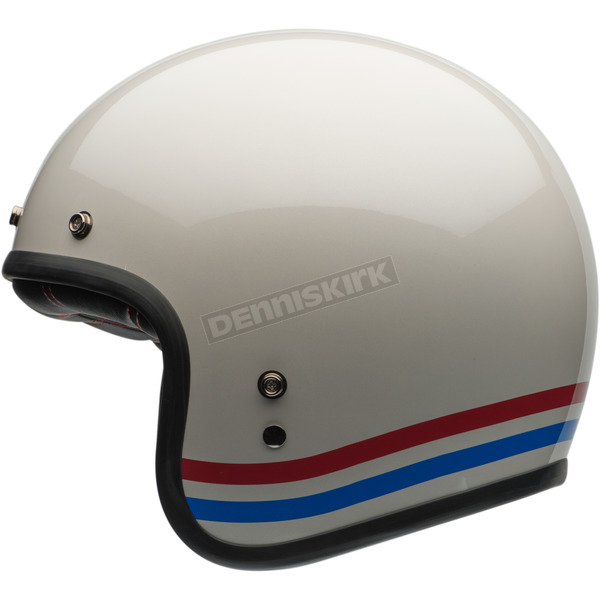 Bell Helmets Pearl White With Stripes Custom 500 Helmet - 7070151
