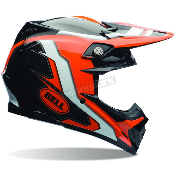 Bell Helmets Orange/Black Moto-9 Carbon Flex Factory Helmet - 7069265