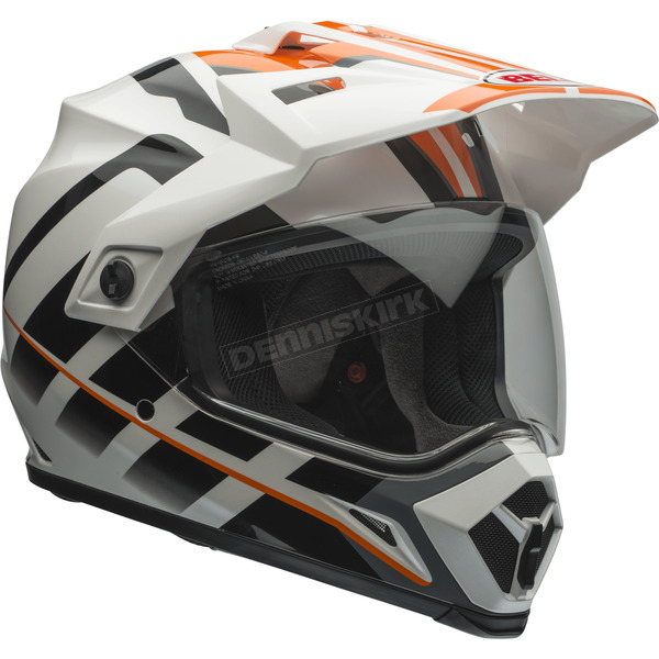 Bell Helmets Orange/White Raid MX-9 Adventure Helmet - 7069350