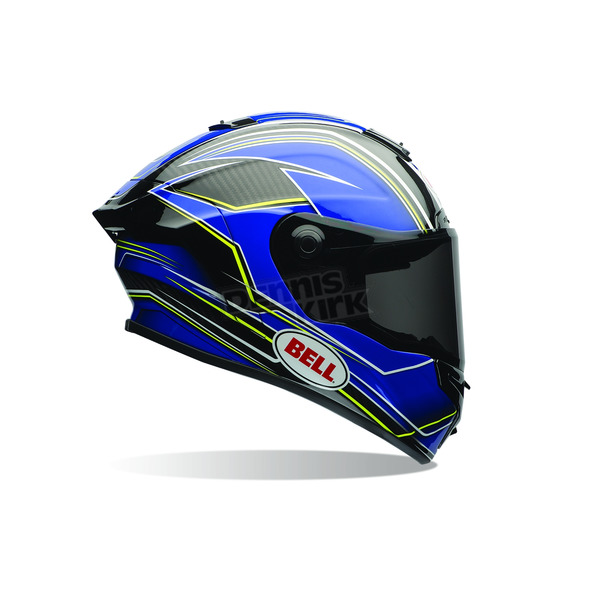 Bell Helmets Blue/Yellow Triton Race Star Helmet - 7069656