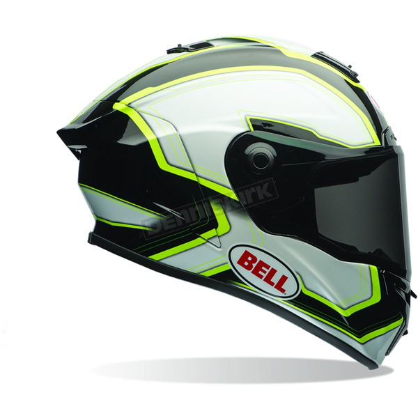 Bell Helmets Black/White/Green Pace Star Helmet - 7069767
