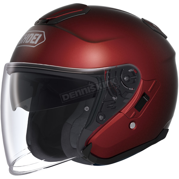 Shoei Helmets Wine Red J-Cruise Helmet - 0130-0111-08