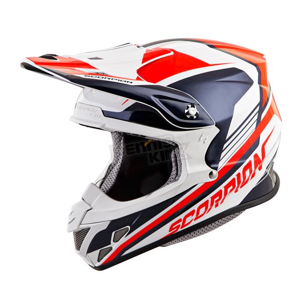 Scorpion Neon Red/Blue VX-R70 Ascend Helmet - 70-6715