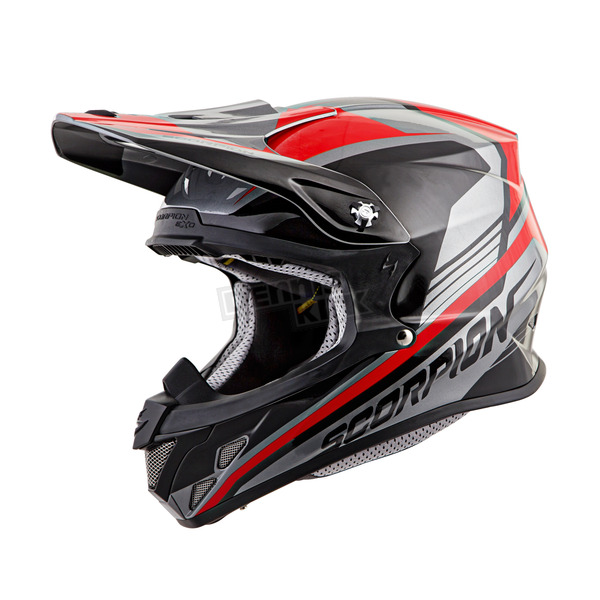Scorpion Silver/Red VX-R70 Ascend Helmet - 70-6723