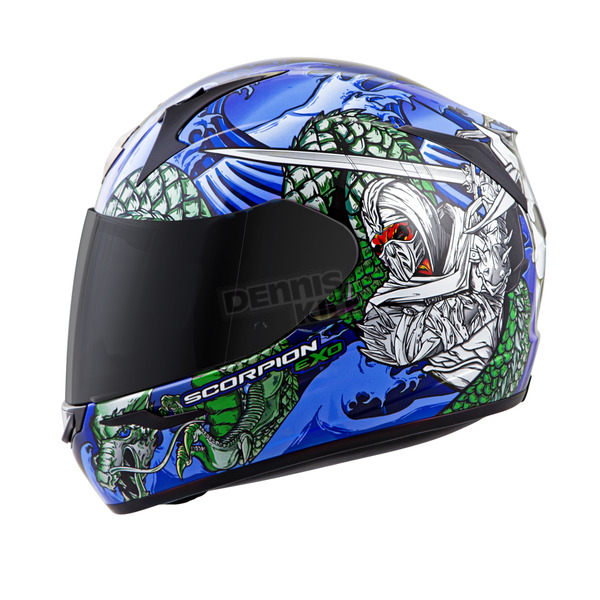 Scorpion Red/Blue EXO-R410 Bushido Helmet - 41-1103