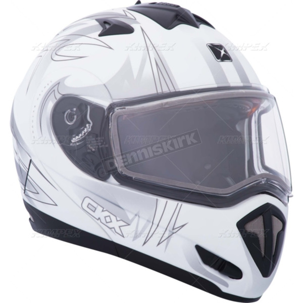 CKX Matte White Tranz RSV Blast Modular Snow Helmet w/Electric Shield - 104236