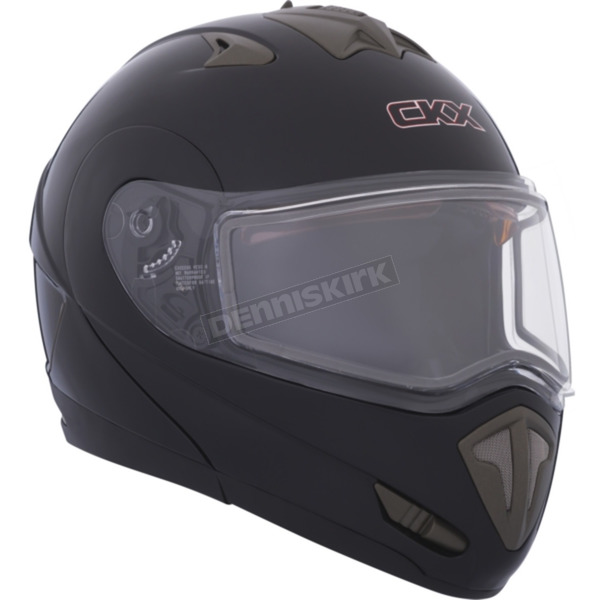 CKX Black Tranz RSV Modular Snow Helmet w/Electric Shield - 105152