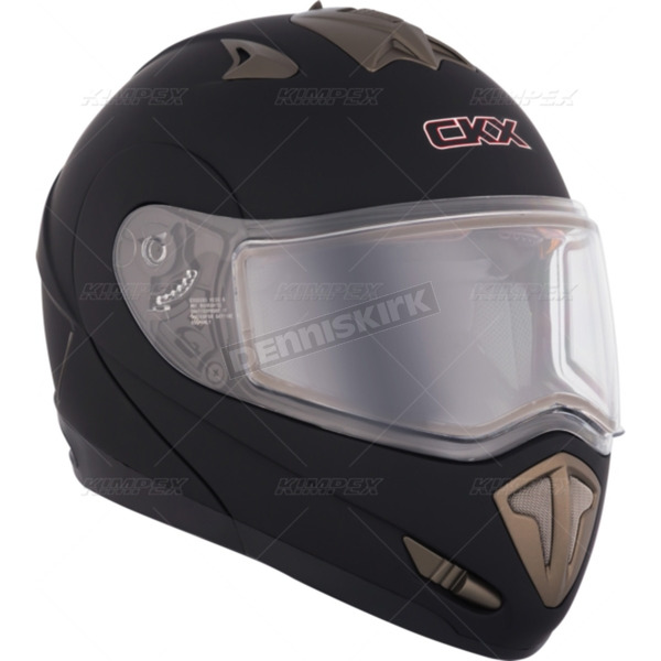 CKX Matte Black Tranz RSV Modular Snow Helmet w/Electric Shield - 105162