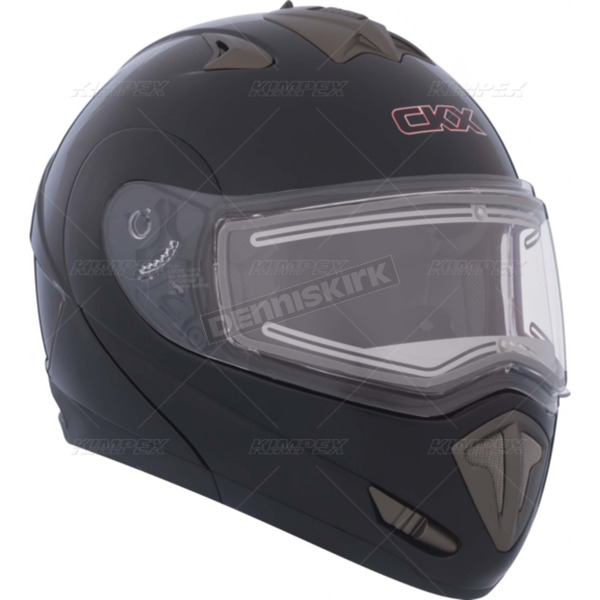 CKX Black Trans-E Modular Snow Helmet w/Electric Shield - 105247