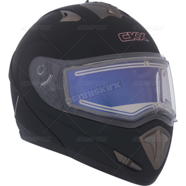 CKX Matte Black Trans-E Modular Snow Helmet w/Electric Shield - 105434