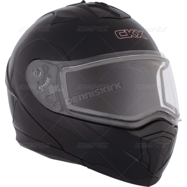 CKX Matte Black Tranz 1.5 RSV Modular Snow Helmet w/Electric Shield - 501352