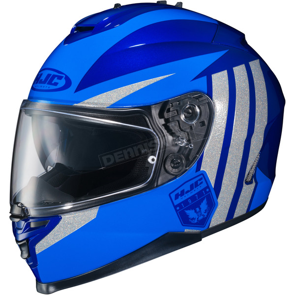 HJC Blue/Gray IS-17 MC-2 Grapple Helmet - 592-922
