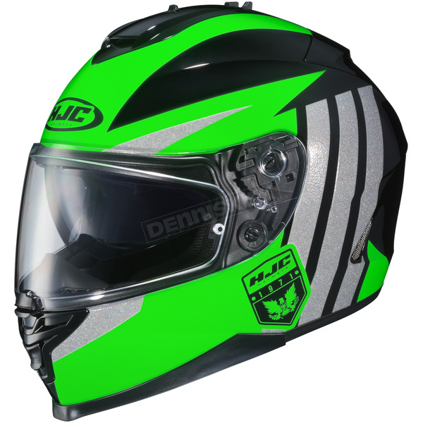 HJC Neon Green/Gray/Black IS-17 MC-4 Grapple Helmet - 58-5141