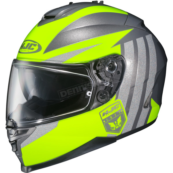 HJC Hi-Viz Yellow/Gray IS-17 MC-3H Grapple Helmet - 58-5131