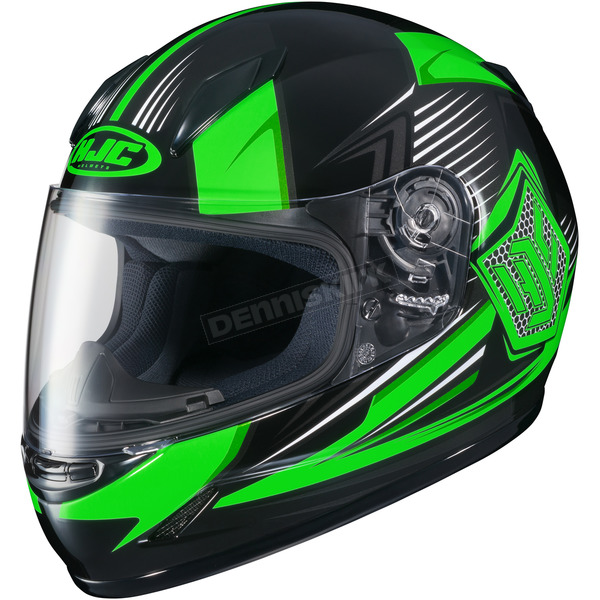 HJC Youth Neon Green/Black CL-Y MC-4 Striker Helmet - 234-944