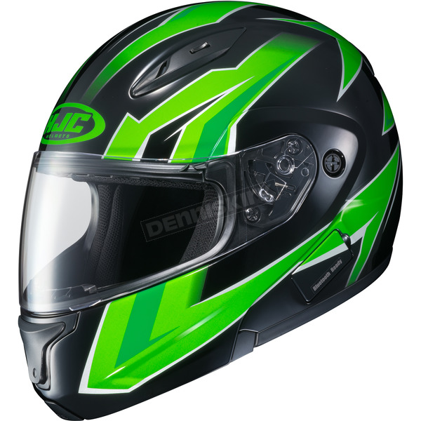 HJC Neon Green/Black CL-Max 2 MC-4 Ridge Modular Helmet - 59-4542