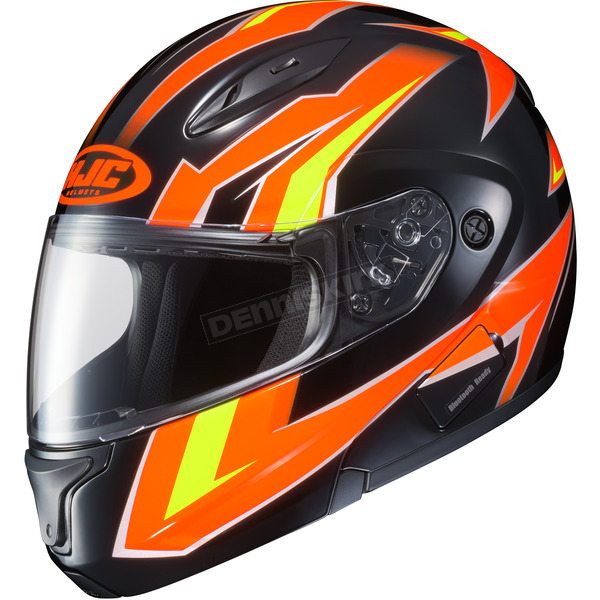 HJC Neon Orange/Black/Yellow CL-Max 2 MC-6 Ridge Modular Helmet - 59-4569
