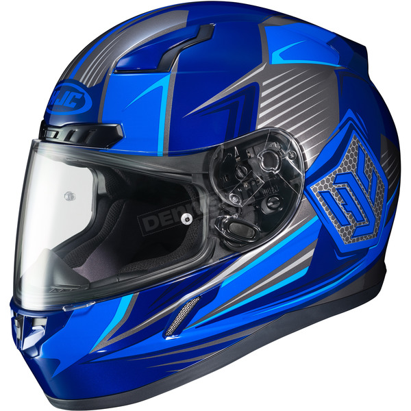 HJC Blue/Gray CL-17 MC-2 Striker Helmet - 57-9338