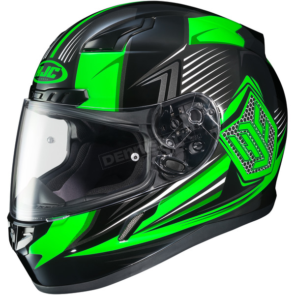 HJC Neon Green/Black CL-17 MC-4 Striker Helmet - 57-9364
