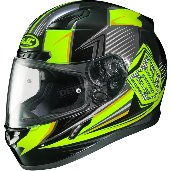HJC Hi-Viz Yellow/Black CL-17 MC-3H Striker Helmet - 834-937