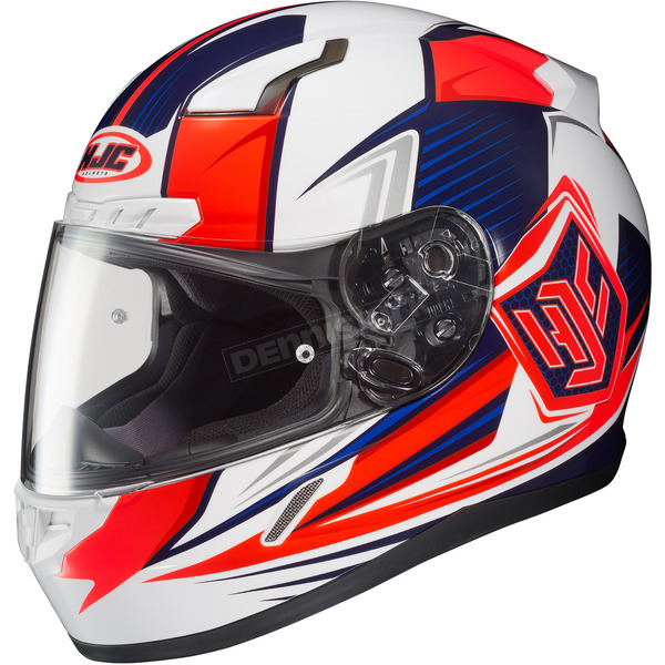 HJC White/Red/Blue CL-17 MC-1H Striker Helmet - 57-9329T